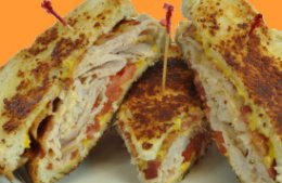 Parmesan Turkey Club Melt